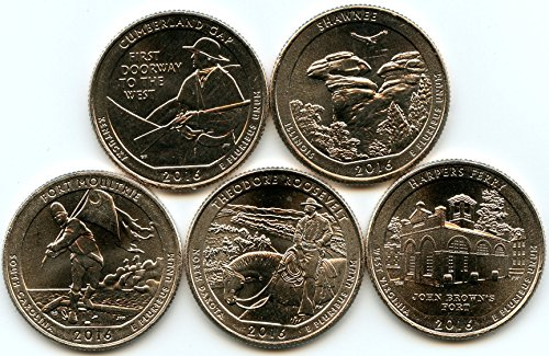 of 5 National Park Quarters Uncirculated ()