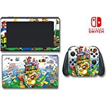 New Super Mario Bros 3D Land World Luigi Yoshi Video Game Vinyl Decal Skin Sticker Cover for Nintendo Switch Console System