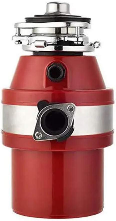 JINRU Cocina de Acero procesador de Alimentos Disposición de Basura Trituradora Buena triturador de desperdicios de Acero Amoladora Material del Fregadero de Cocina Appliance,Rojo: Amazon.es: Hogar