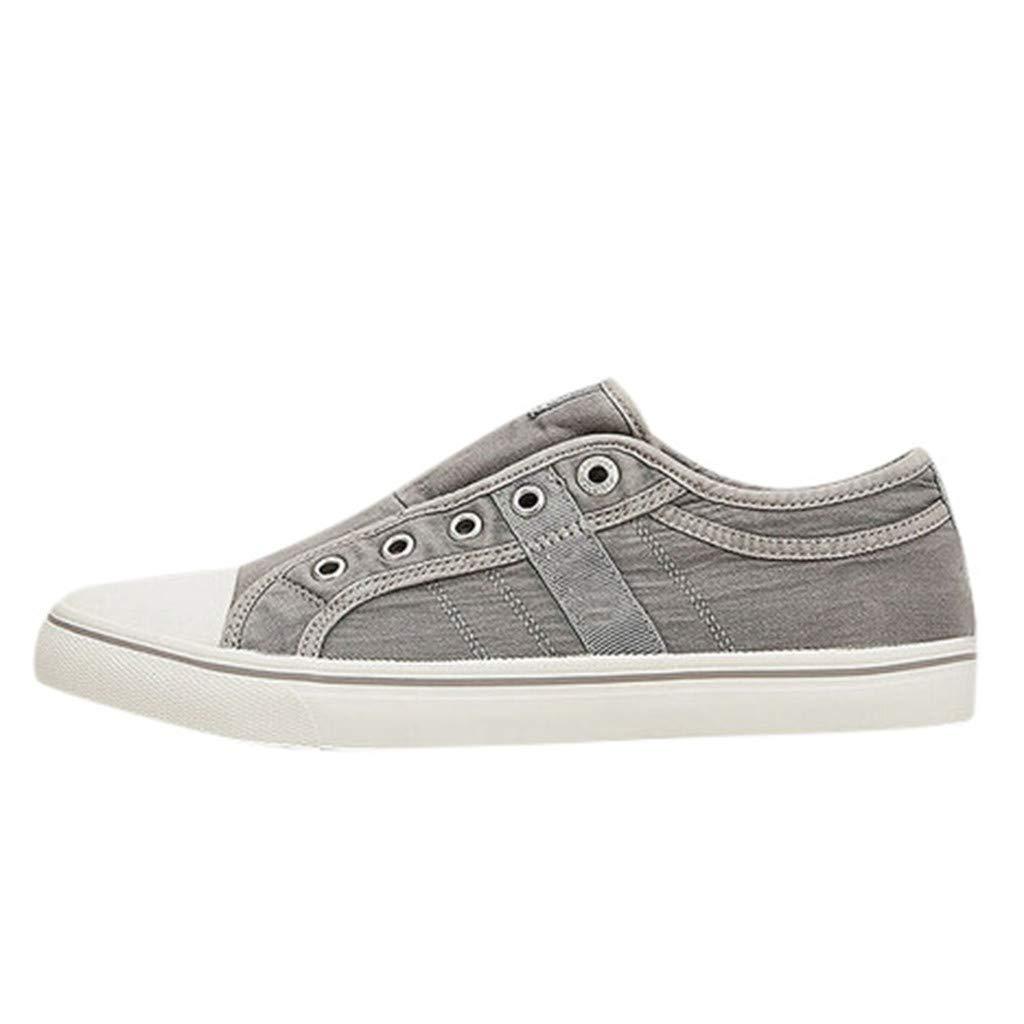 Shusuen Women's Fashion Sneaker Flat-Bottomed Casual Shoes Gray by Shusuen_shoes