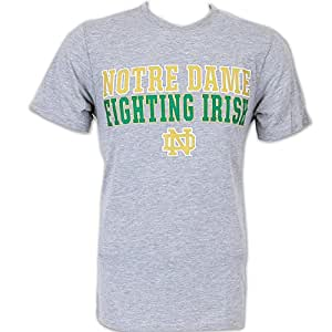 Notre Dame Fighting Irish Mens College Tee - S - Oxford Heather