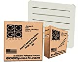 GOGO Panels - P1BW - Cream White - Standard Panel 2' x 2' - 8-pack