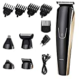 Updated Version Professional Hair Clippers,Cordless Hair trimmers,Home Barber Clipper Kit with hair clipper,5 in 1 Multi-functional electric Hair clippers,Hair Precision Trimmer Body Groomer Waterpr