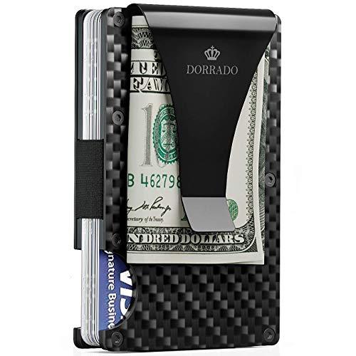 Carbon Fiber Wallet - Metal Wallet - Minimalist Wallet - RFID Blocking Front Pocket Wallet - Carbon Fiber Money Clip - Card Holder - Thin Wallet
