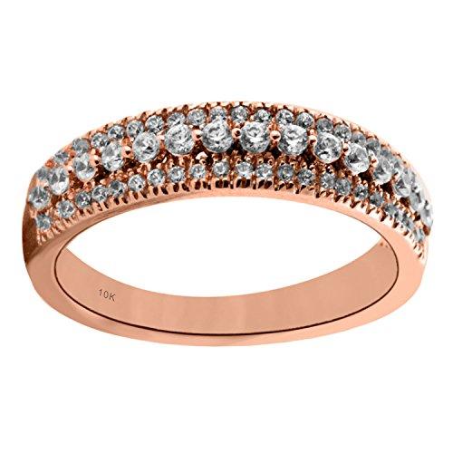 10K Rose Gold 1cttw Diamond Anniversary Ring