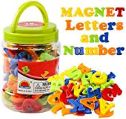 JCREN Magnetic Alphabet Magnets Letters and Numbers Toy ABC 123 Fridge Plastic Toy Set Educational Magnetic in