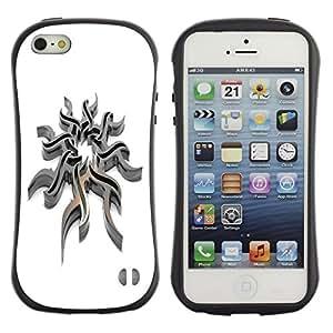Suave TPU GEL Carcasa Funda Silicona Blando Estuche Caso de protección (para) Apple Iphone 5 / 5S / CECELL Phone case / / Tribal Steel /