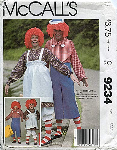 McCall's Pattern 9234 Raggedy Ann and Andy, Adult Medium (Bust/Chest 36-38) ()