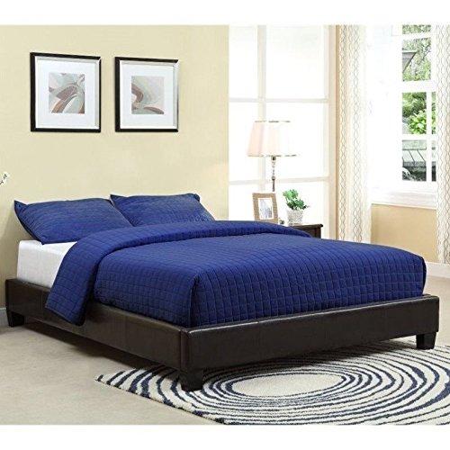 Modus Furniture 7G08F5 Ledge Upholstered Platform Bed, Queen, (Dark Chocolate Queen Headboard)
