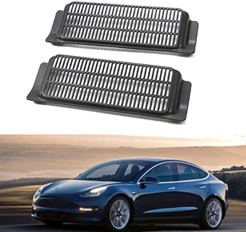 Cavis for Tesla Model 3 Interior Back Air Outlet Vent Cover Anti-Blocking Under Seat