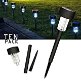 Cellay Solar Powered LED Garden Lights [ 10 Pack ] Perfect White Light Design, Garden Pathways Landscape Night Lighting