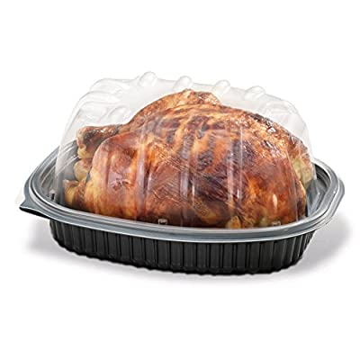 Placon Placon Black Rotisserie Chicken Roaster Container Carrier w/Clear High Dome Lid (pack of 10) - 4015144 , B01JH4HFS4 , 454_B01JH4HFS4 , 14.05 , Placon-Placon-Black-Rotisserie-Chicken-Roaster-Container-Carrier-w-Clear-High-Dome-Lid-pack-of-10-454_B01JH4HFS4 , usexpress.vn , Placon Placon Black Rotisserie Chicken Roaster Container Carrier w/Clear