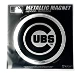 """Stockdale Chicago Cubs 6"""" Metallic MAGNET Silver Style Vinyl Die Cut Auto Home Baseball"""