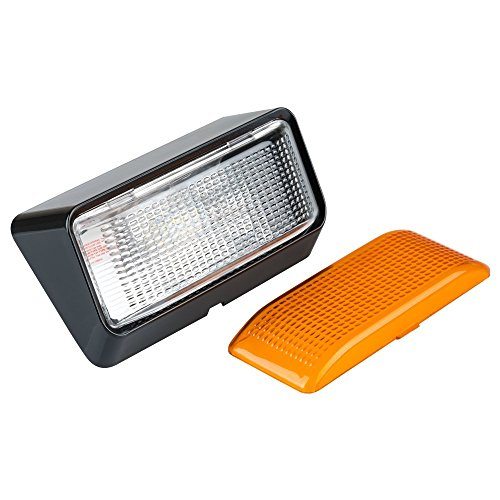 Lumitronics LED RV Exterior Porch Utility Light - 12v Lighting Fixture. Replacement Lighting for RVs, Trailers, Campers, 5th Wheels. Clear and Amber Lenses Included (Black Base)