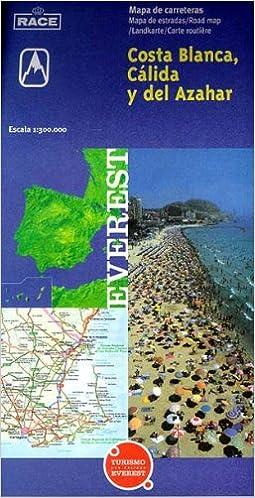 Mapa turístico de la Costa Blanca, Cálida y del Azahar: Mapa ...