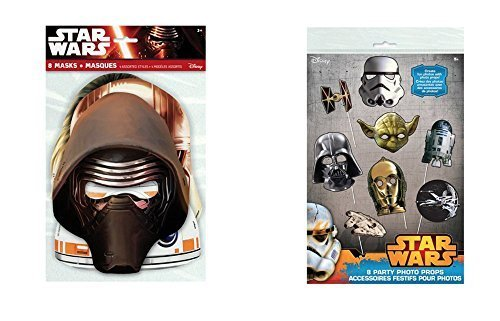 Star Wars Party Masks and Photo Props, 16 pieces for sale  Delivered anywhere in USA