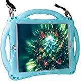 TopEsct iPad 2 Case for Kids. Soft Silicone Childproof Handle Stand Case for Apple iPad 2nd Generation,iPad 3rd Generation,iPad 4th Generation(iPad 2nd,3rd,4th Gen, Sky Blue)