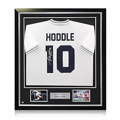 Deluxe Framed Glenn Hoddle Signed Tottenham Hotspur Shirt: Number 10 - Deluxe Framed Jersey