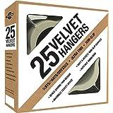 Closet Complete Ultra Thin No Slip Velvet Suit Hangers, Ivory Set of 25