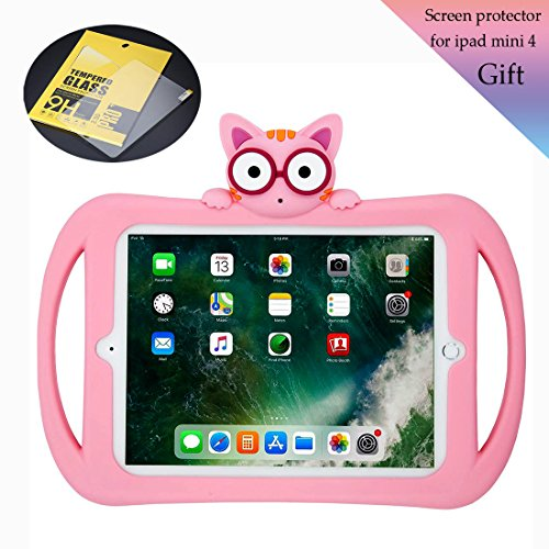 Starthere Compatible Shockproof Cover, Silicone Protective Case for Kids with Stand and Screen Protector, Replacement for iPad Mini 4/7.9 Inch by Starthere