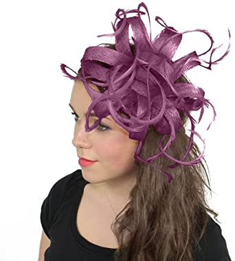 Rose Plume Millinery Pince à Cheveux Mariage Piece Ascot Course Danse