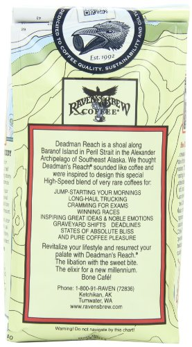 Raven's Brew Whole Bean Deadman's Reach,Dark Roast 12-Ounce Bags (Pack of 2)