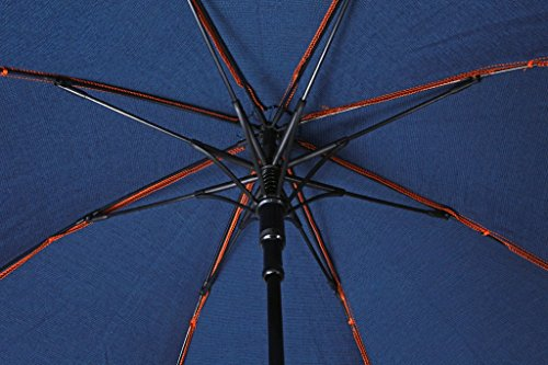 Large Sun & Rain Umbrella - Blue Jean Sunbrella Fabric - Dual Protection from Water and UVA and UVB Rays - By San Francisco Umbrella Co. by San Francisco Umbrella Company (Image #2)