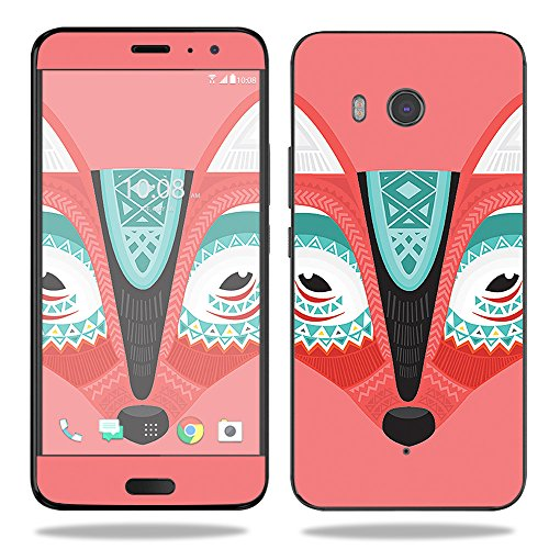 MightySkins Skin Compatible with HTC U11 - Aztec Fox | Protective, Durable, and Unique Vinyl Decal wrap Cover | Easy to Apply, Remove, and Change Styles | Made in The USA