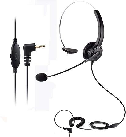 Telpal Headset Mit 2 5 Mm Klinkenstecker Monaural Elektronik