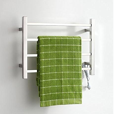 TuTu Square Pipe Wall Mounted Stainless Steel Electric Heated Towel Rail Bathroom Radiator Towel Warmer 9023