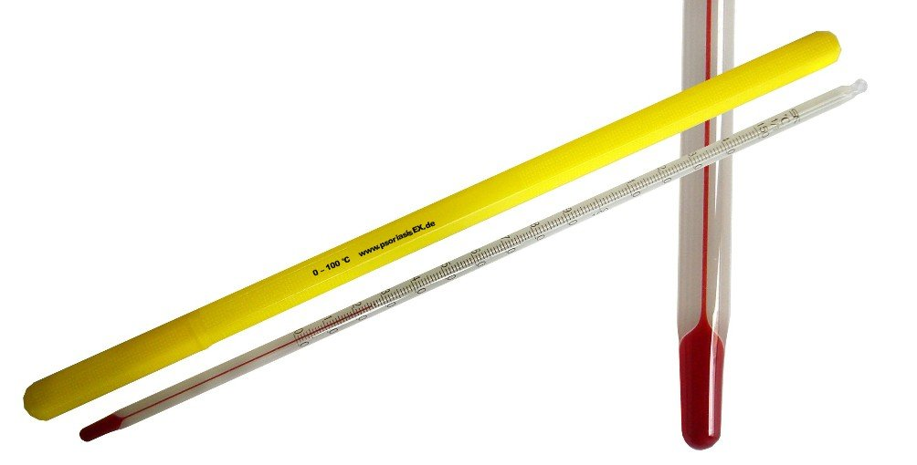 Term/ómetro de laboratorio Term/ómetro con ojal de 0 a 100/° C 15 cm