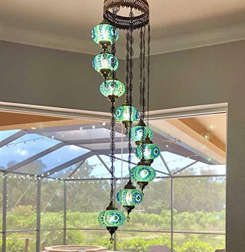 Spiral 9 Light Pendant