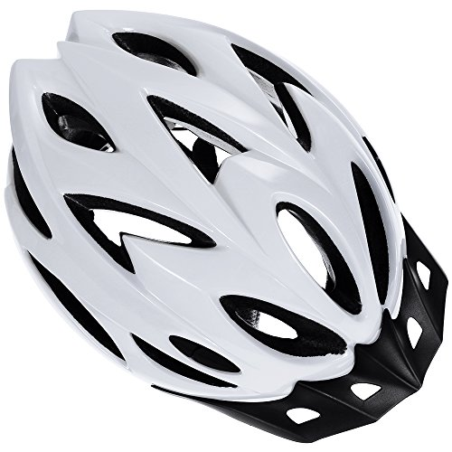 Zacro Adult Bike Helmet, CPSC Certified Cycle Helmet, Specialized for Mens Womens Safety Protection, Bonus with a Headband (White)