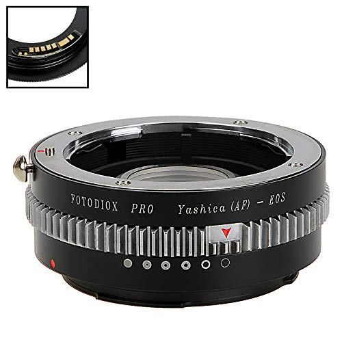 Fotodiox Pro Lens Mount Adapter Compatible with Yashica 230 Af SLR Lens to Canon EOS (EF, EF-S) Mount D/SLR Camera Body - with Gen10 Focus Confirmation Chip and Built-in Aperture Control Dial ()