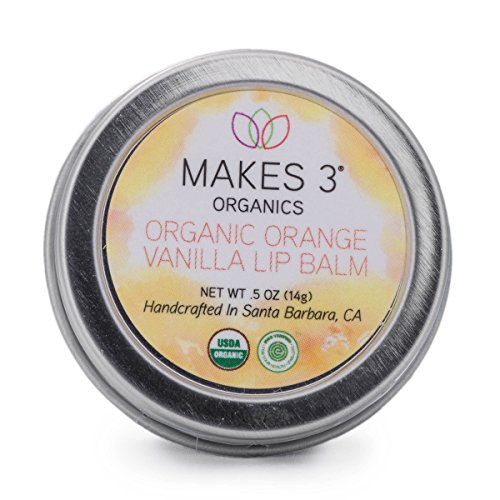 Makes 3 Organics Lip Balm Tin, Orange Vanilla, 0.5 Ounce