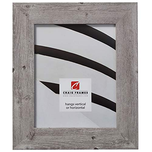 Craig Frames American Barn, Faux Barnwood Picture Frame, Light Grey Oak, 18 x 24 Inch