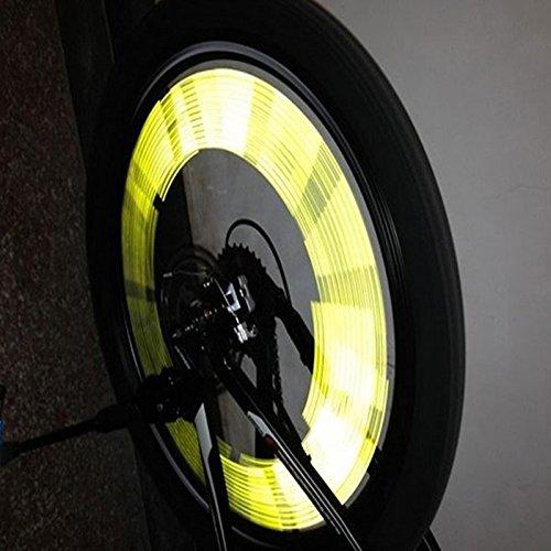 CAIDUD 12 x Reflector Reflectantes Radio DE Rueda Tubo ABS luz de Advertencia Amarillo