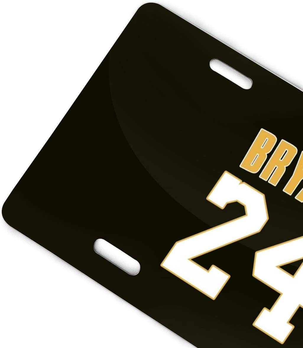 6X12 Front License Plate HK37USFEI License//Vanity Plate,Ko-be 24 Bry-ant Automobile