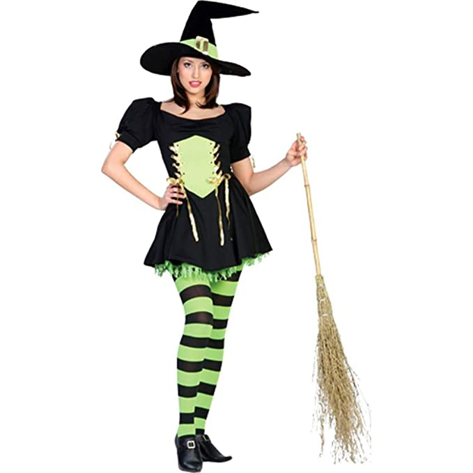 Amazon.com: Disfraz de bruja Esmeralda (adulto de la mujer ...