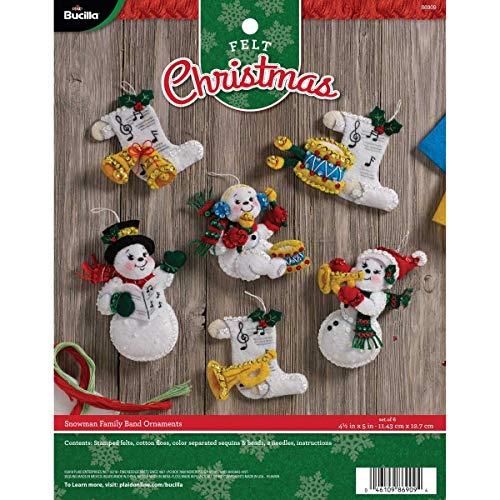 Bucilla 86909 Felt Applique Ornament Kit, 4.5