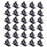#7: Viaky 30 Pcs Black Clips Self Adhesive Backed Nylon Wire Adjustable Cable Clips Adhesive Cable Management Drop Wire Holder