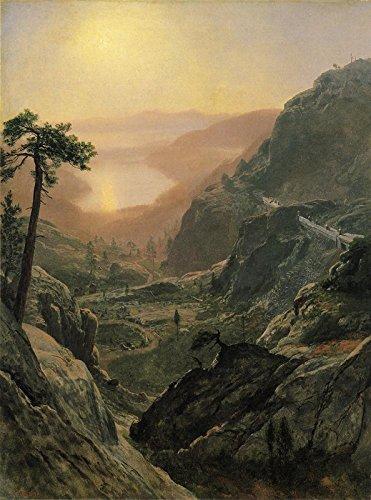 Albert Bierstadt View of Donner Lake, California 30