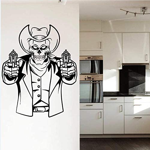 yaonuli Creative Head Texas Cowboy and Gun Adhesivo de Pared con Estilo Especial Pintor Mural con decoración de Sala de Estar extraíble 50x55cm: Amazon.es: Hogar