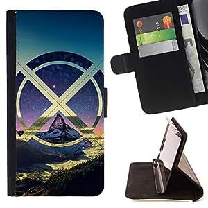Momo Phone Case / Flip Funda de Cuero Case Cover - X Montañas Nube;;;;;;;; - LG G4c Curve H522Y (G4 MINI), NOT FOR LG G4