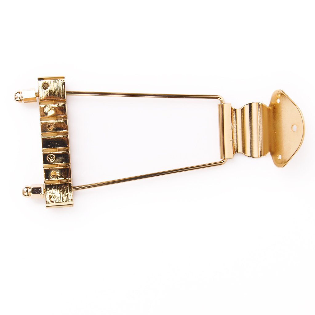 Gold Trapeze 6-string Tailpiece for Archtop Guitar Generic STK0115006095