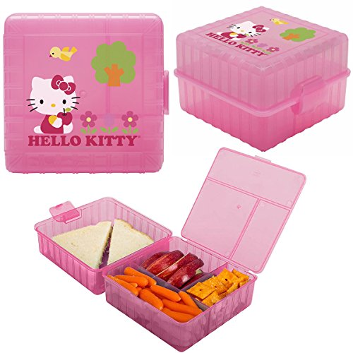 (Zak! (3 Pack) Hello Kitty Kids Lunch Box Packs Food Storage Containers for Sandwich)