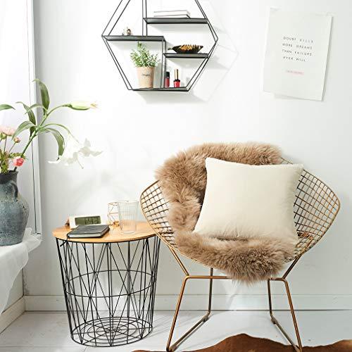 QBQCBB Multiple Sizes Soft Coral Fleece Solid Color Pillow Cover Sofa Cushion Case 60cm(BL)