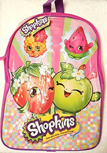 Shopkins Girls Child and Tween Pink Book Bag Backpack