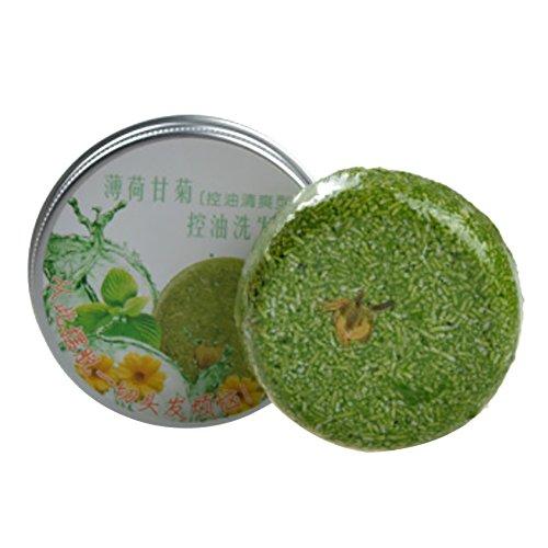Shampoo Bar by Ofanyia, Natural Plant Essential Oil Soap Bar, Plant Essence Shampoo & Conditioner Handmade Soap, Mint Camomile