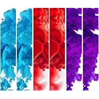 EG Color Smoke for Baby Gender Reveal, Rainbow Baby, Photography, Paintball - SIX COLORS (2 Red, 2 Blue, 2 Purple) BONUS Gloves!